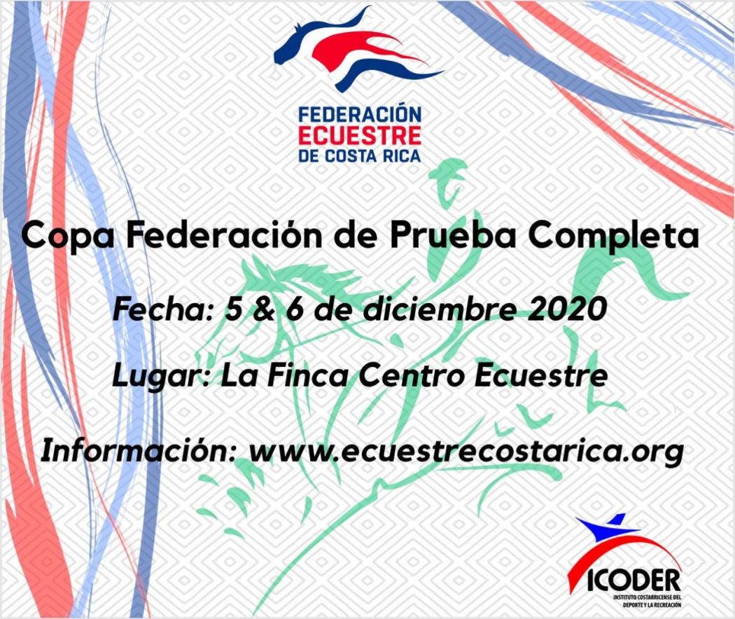 Orden de Entrada Copa Federación de Prueba Completa