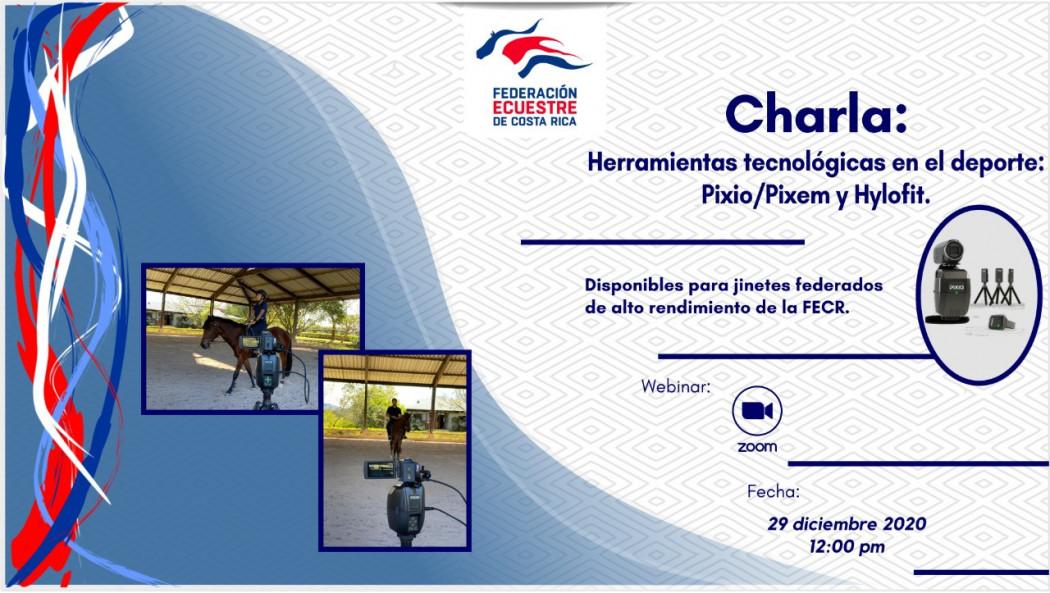 """Charla Virtual: """"Herramientas Tecnológicas en el Deporte: Pixio / Pixem y Hylofit"""""""