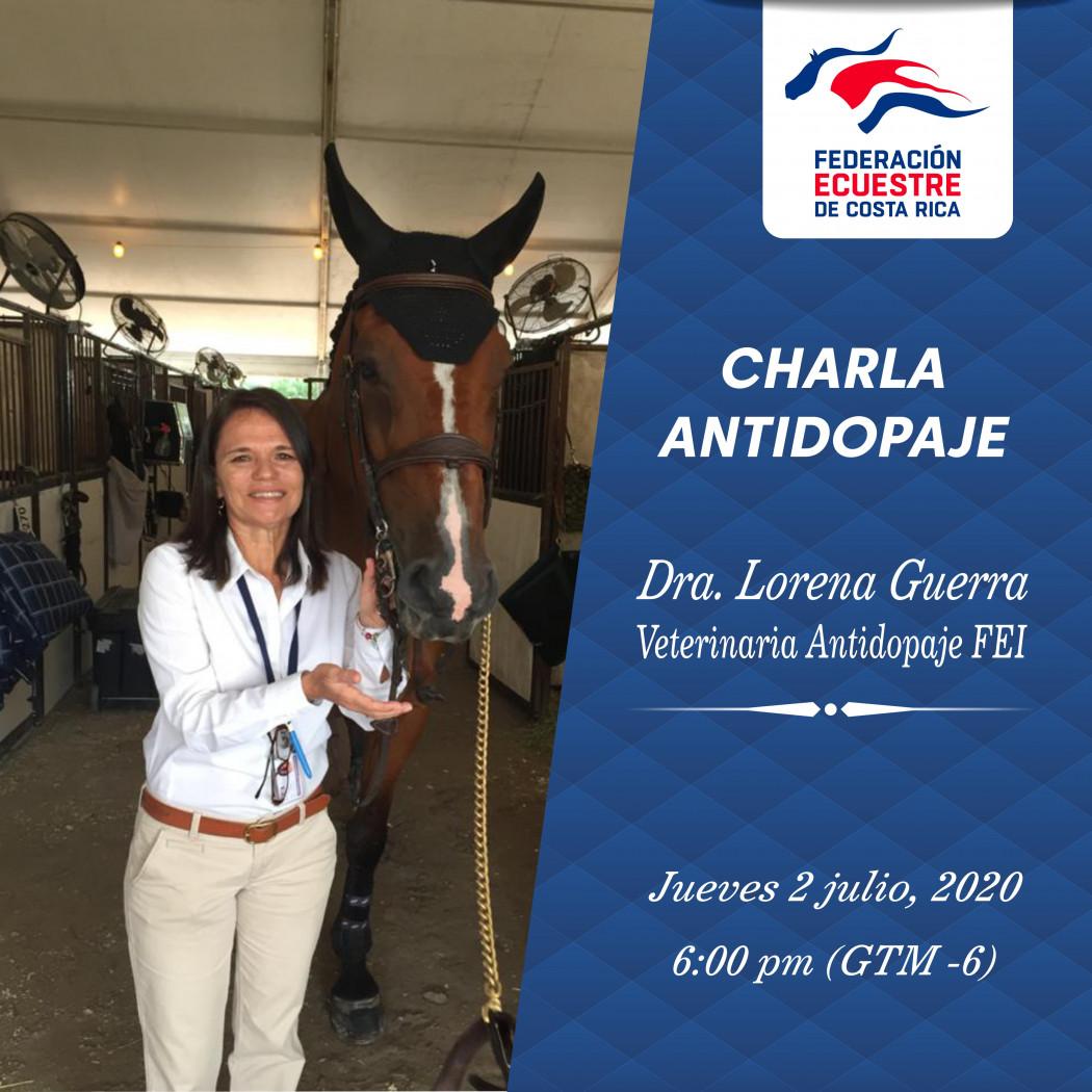 Video de la Charla Virtual sobre Control Antidopaje en el Deporte Ecuestre de Costa Rica - Dra. Lorena Guerra