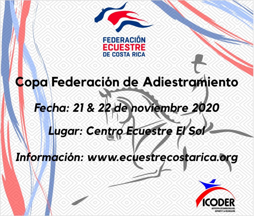 Convocatoria Copa Federación de Adiestramiento