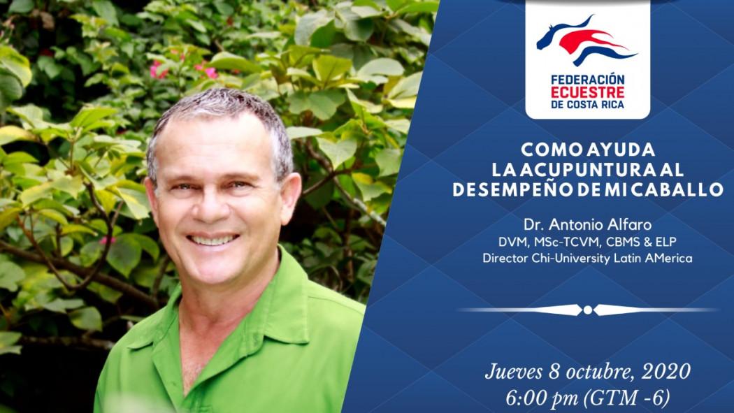 """Video Charla Virtual: """"Cómo Ayuda la Acupuntura al Desempeño de mi Caballo"""" - Dr. Antonio Alfaro"""
