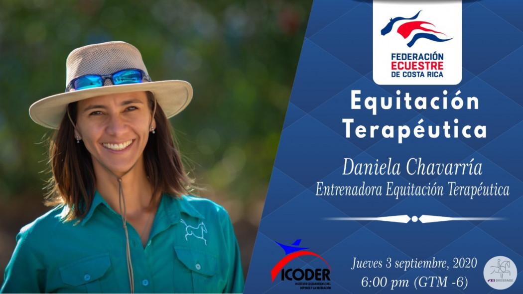 """Video Charla Virtual: """"Equitación Terapéutica"""" - Daniela Chavarría"""